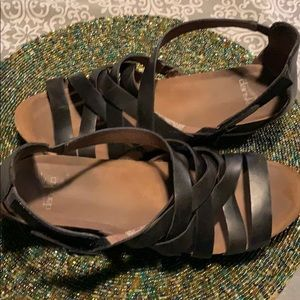 Dansko black leather strappo sandal size 41
